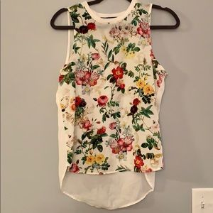 Floral front tank top